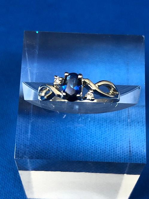 Petite Sapphire twist Ring