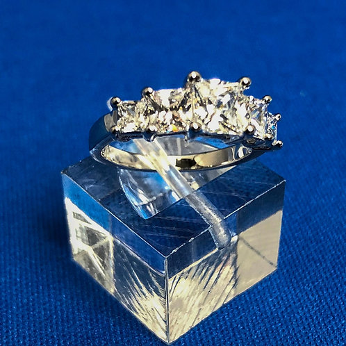 Five Stone Princess Ring