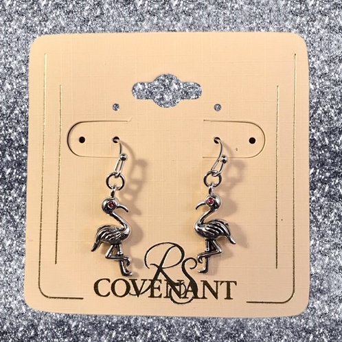 RSC flamingo dangle earring