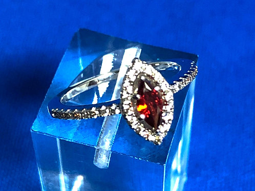 Rose/Sapphire Flip Ring