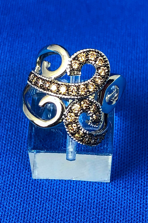 Scroll Cocktail Ring