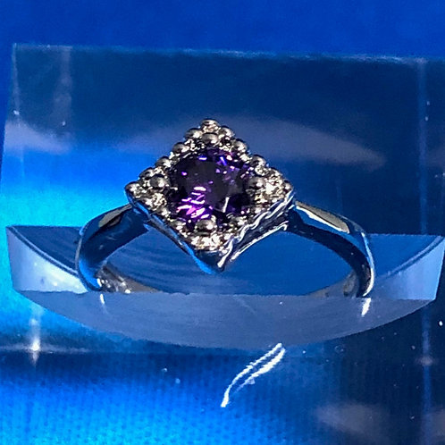 Petite Amethyst Ring