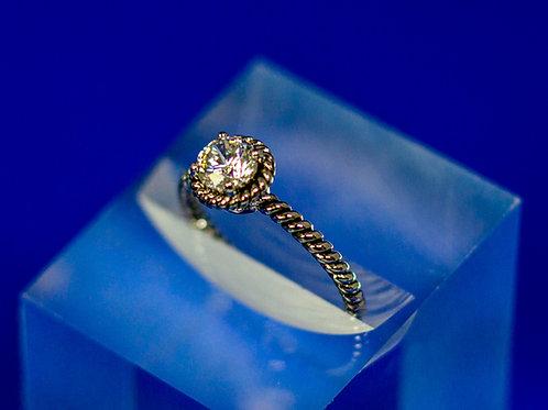 Petite Solitaire Ring