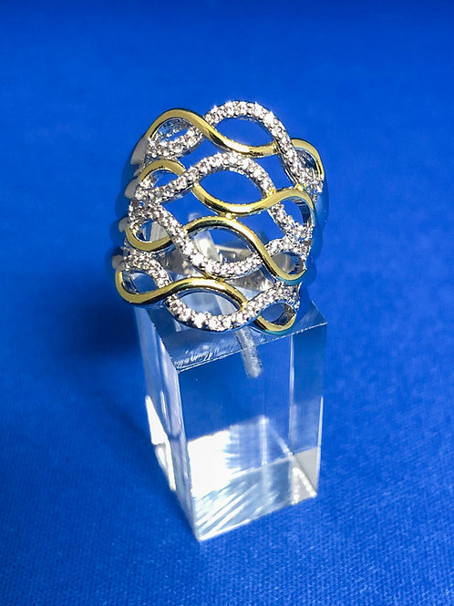 4 Layer Duel Eternity Ring