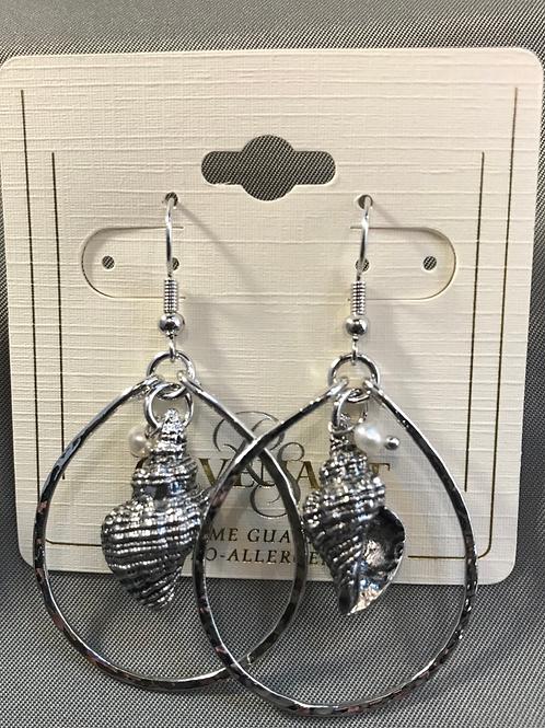 Pear + Shell Drop Earring