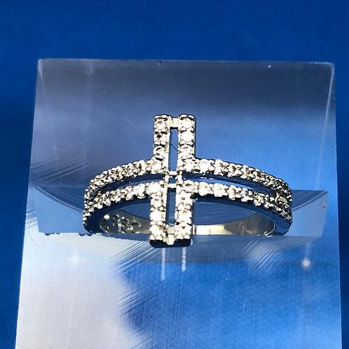 Hollow Side Cross Ring