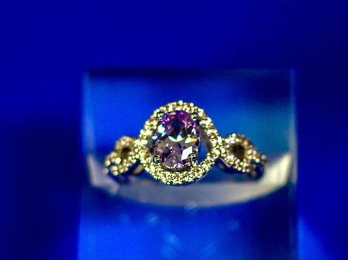 Oval Lavender Amethyst Ring