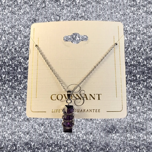 RSC wrapped amethyst necklace