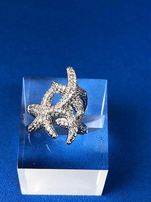 Triple Starfish Ring