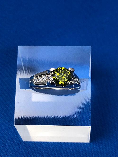 Tapered Peridot Ring