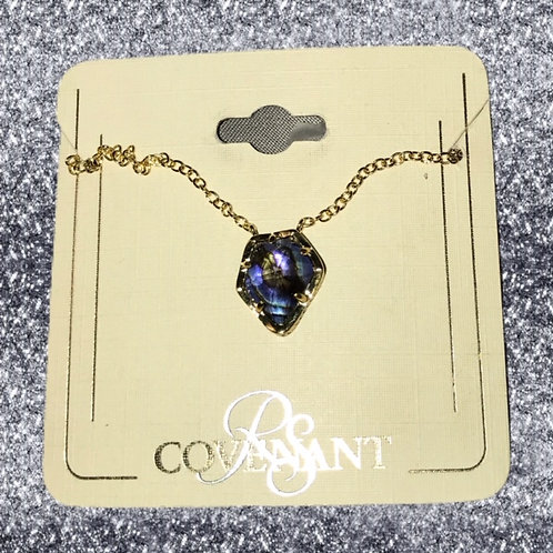 RSC Gold abalone necklace