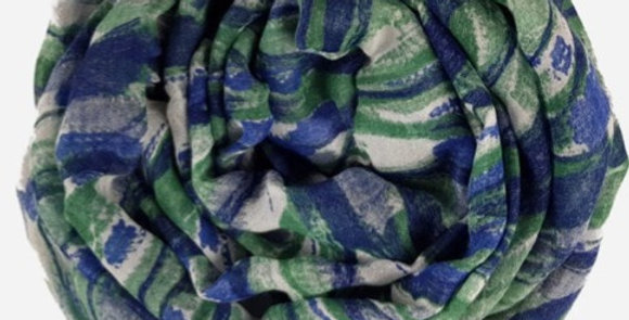 Foulard in Bamboo - Blue Night