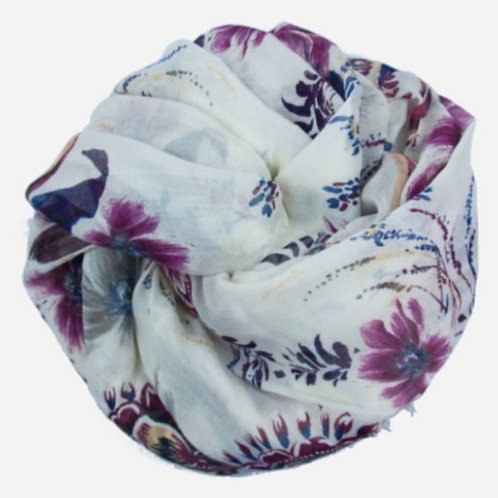 Foulard in Bamboo - Incanto d'Inverno