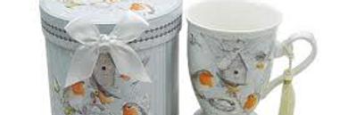 Tazza in porcellana - Pettirosso