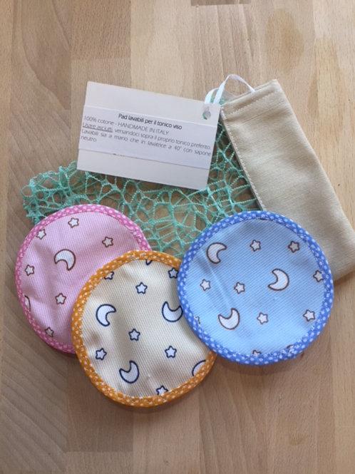 Set 3 dischetti lavabili per tonico viso