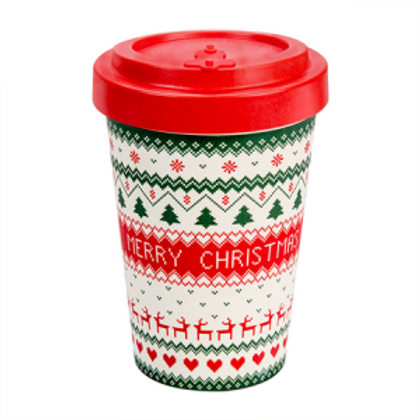 Tazza in Bamboo - Merry Christmas