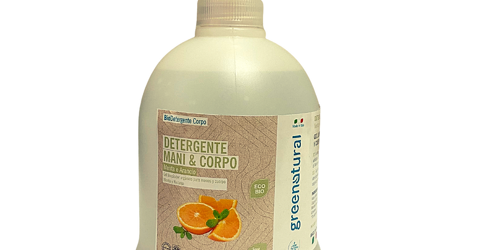 Detergente Mani e Corpo Menta e Arancio - 500 ml