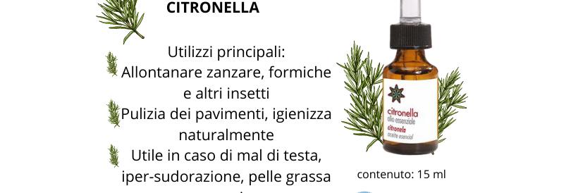 Olio Essenziale CITRONELLA - 15 ml