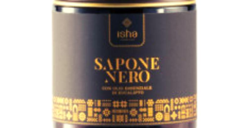 Sapone Nero con Oli Essenziali d'Eucalipto