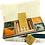 Thumbnail: Cofanetto in carta di gelso con 4 saponi e portasapone