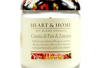 Candela in cera di soia - Casetta Pan di Zenzero - 115 gr.