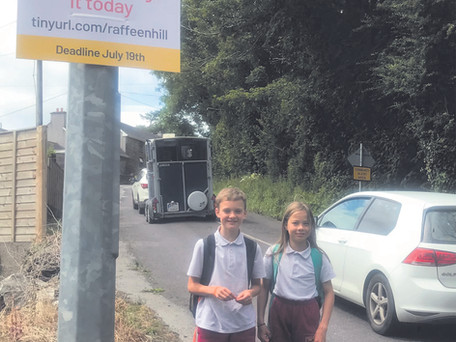Local Campaign To Reduce Speed On Raffeen Hill 'Rat-Run'
