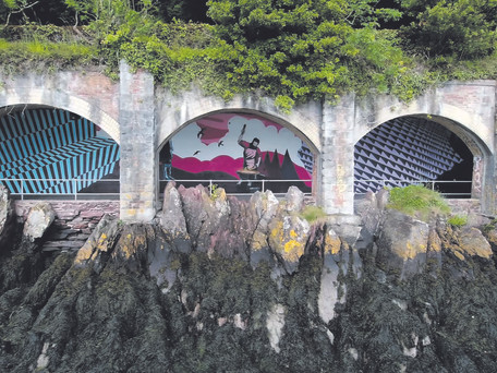 Monkstown Mural Transforms Historic 'Cut and Cover' Tunnel