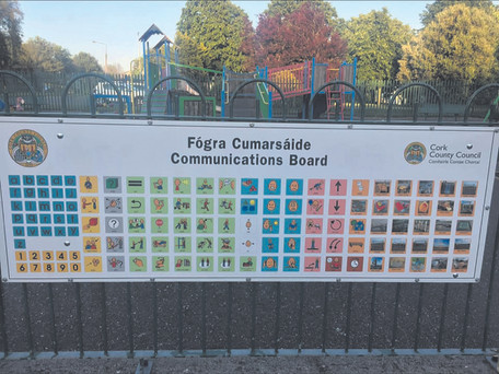 Carrigaline Playground Becomes First In The County To Pilot ASD Communications Board.