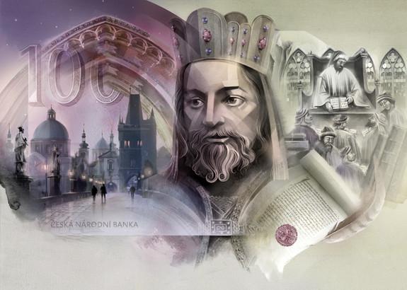 Czech koruna. Karl IV