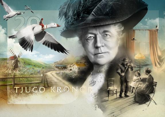 Swedish Kronor. Selma Lagerlof
