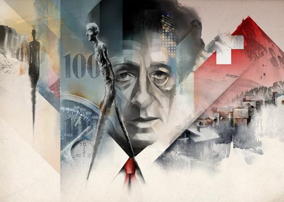 Swiss franc. Alberto Giacometti