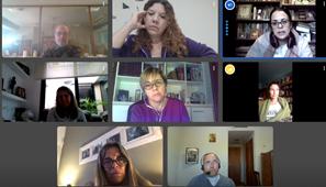 Encuentro virtual del equipo directivo de Lomas de Zamora
