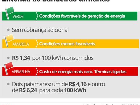 ALERTA: CONTA DE LUZ MAIS CARA! TARIFA DE BANDEIRA VERMELHA 2 TERÁ REAJUSTE DE 52%.