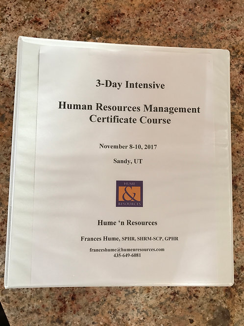 *Course Workbook-3-Day