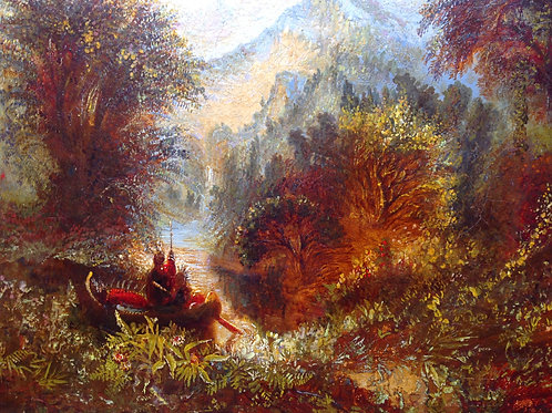 American wooded landscape by Peter Paul Pugin