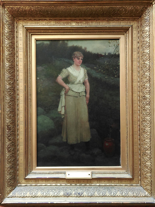'At the well' by George Henry Boughton R.A.