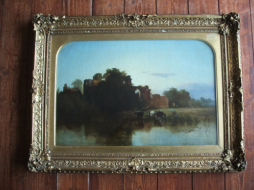 'The Old Moat' by George Augustus Williams (1814-1901)