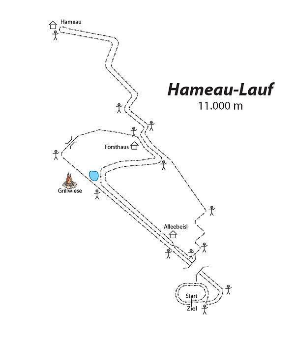 Strecke Hameau-Lauf