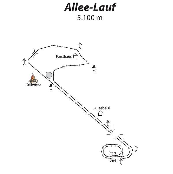 Strecke Allee-Lauf