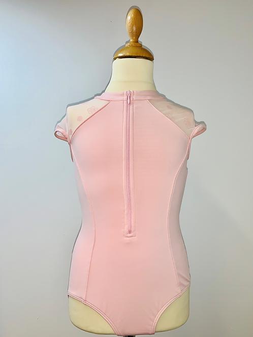 Bloch zip front high neck capsleeve