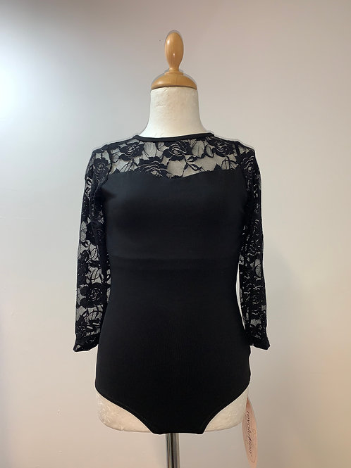 Revolution 3/4 sleeve lace leotard