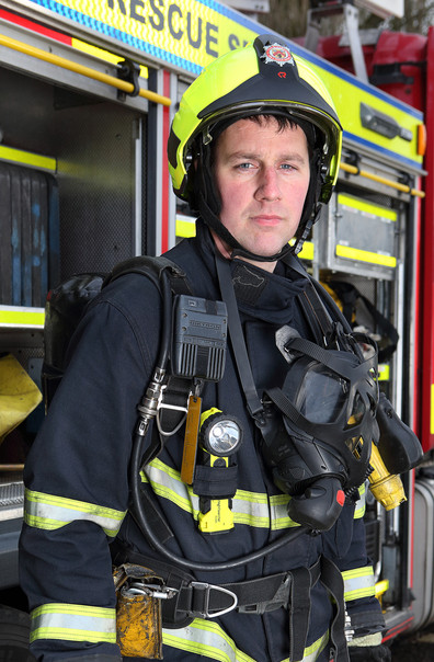 A member of the Durrow fire and resuce team