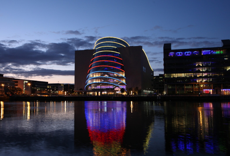 dublin convention center at night