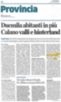 L'Eco di Bergamo del 23/09/2017