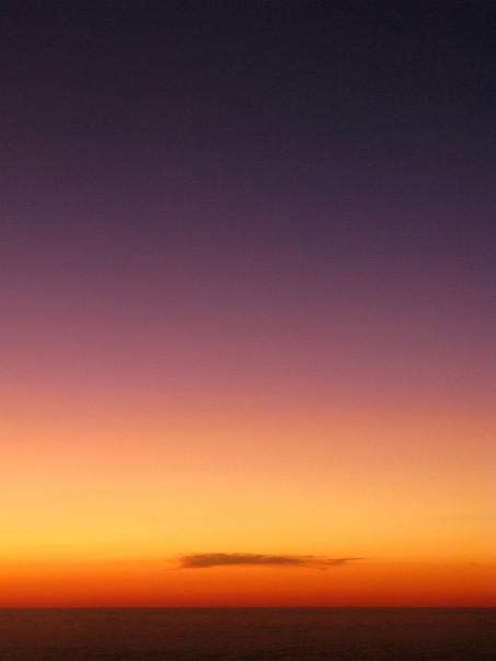 31k foot sunset