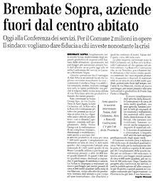 L'eco di Bergamo del 24/03/2009