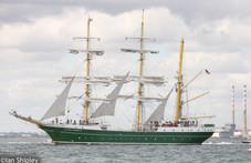 Alexander Von Humbolt ll, leaving Dublin port