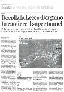L'Eco di Bergamo del 10/01/2013
