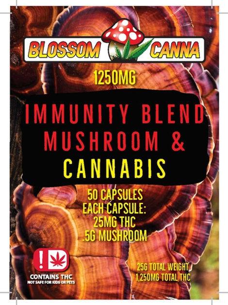 Immunity Blend Mushrooms and Cannabis Capsules