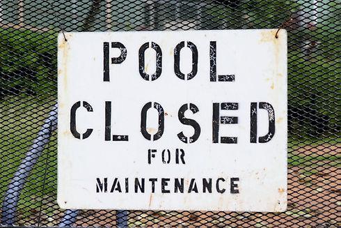 Pool Maintenance signage